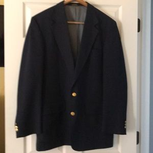 Men's navy blazer by Stafford.
